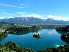 Lake Bled from the Mountain - Slowenien