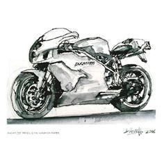 Dave Hendroff  A5 print Ducati 999