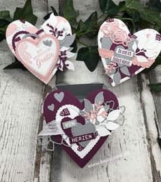 Metabes - Home, Craft and Diy Diy Crafts To Do, Wood Crafts, Valentine Day Cards, Valentines, Stampin Up, Deco Table Noel, Best Wedding Gifts, Scrapbooking, Wedding Favors