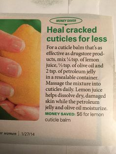 Moisture for dry cuticles