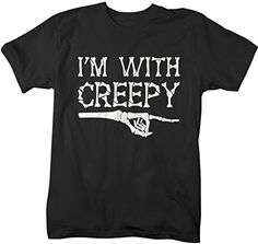Shirts By Sarah Men's Glow In The Dark Halloween T-Shirt With Creepy