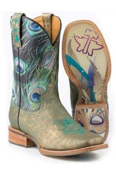 NRS Peacock Masquerade Tin Haul Boots http://www.nrsworld.com/tin-haul-footwear/tin-haul-peacock-and-masquerade-11-top-cowgirl-boot-114824