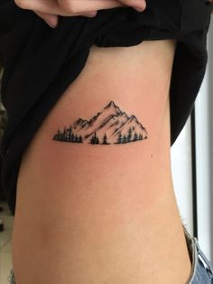 Mountain tattoo.For further inquiries kindly contact Yus at exotic@exotictattoopiercing.com. #TattooIdeasSimple
