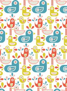 Ludivineem Design - bird pattern http://ludivineem.tumblr.com/post/45354308591/available-at-my-society6-shop