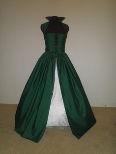 Hunter Green Renaissance Overgown Dress Made FOR you other COLORS Available on Etsy, $115.00