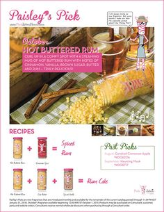 Hot Buttered Rum is the next Paisley's Pick! It'll make you feel all warm and cozy. Available October 1, 2015! www.facebook.com/craftsprinkles