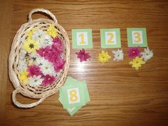 Flower Montessori Counting Activity. $18.00, via Etsy.