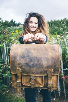 back to school bags for girls by Scaramanga - distressed leather bags from our women's bags collection Back To School Bags, School Bags For Girls, Distressed Leather, Leather Bags, Women's Bags, Satchel, Stylish, Collection, Girls School Bags