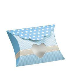 Tischkarte Gastgeschenk blau Kissen Hochzeit Tischdeko Tischdekoration Baby Geburt