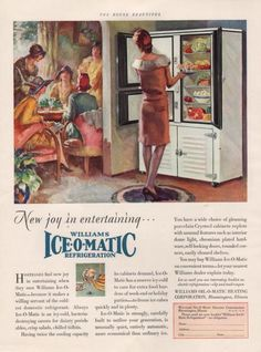 1929 Ad Williams Ice-o-Matic Refrigerator Heating Bloomington Illinois
