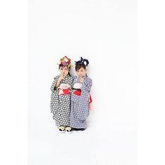 「双子、姉妹コーデ❤️ 新作続々❤️ ち、ら、み、せ❤️ #いちまい#ichimai#七五三#アンティーク#ハンドメイド#テキスタイル#出張撮影#イベント撮影#japan#tokyo#kimono#キモノ#着物#世田谷」