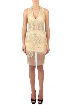 Forever Unique | Claudia Lace Dress Gold | Women dresses online | Boudi Fashion, 98 New Bond St. London W1S 1SN, United Kingdom