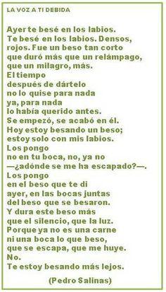 """""""La voz a ti debida"""", del poeta de la Generación del 27, Pedro Salinas."""