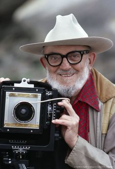Image detail for -Ansel Adams, old guy with vintage camera, hands, beard, hat, glasses, cute, wrinckles, portrait