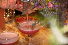 Anthropologie Kings Road hosted a Midnight Apothecary pop-up bar, with the Cocktail Gardener, Lottie Muir, author of Wild Cocktails. Here she is making the Raspberry & Scented Geranium Sour. Click to see more photos.