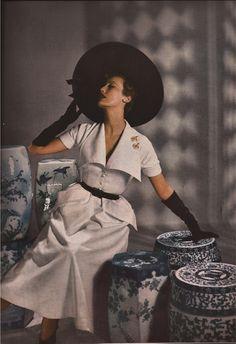 Bazaar 5/49-Elsie de Wolfe-Burma by Cartier Bresson-Christian Berard-Anouk Amiee