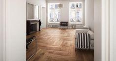 Wood look #tile planks. Herringbone pattern