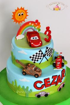 Mcqueen Cake, Birthday Cake, Desserts, Food, Animal Birthday, Pastries, Tailgate Desserts, Birthday Cakes, Meal