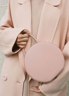 A beautiful purse to go with a gorgeous coat! Mansur Gavriel