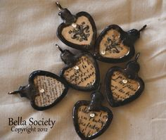 Soldered pendants jewelry pinterest pendants resin and vintage style soldered heart pendant aloadofball Image collections