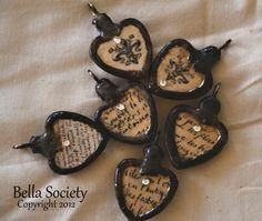 Vintage style soldered heart pendant. via Etsy.
