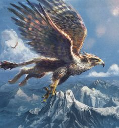 Only the few people Chosen can live with, and ride a gryphon. Description from…