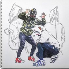 http://SneakersCartel.com Bape x Nike Air More Uptempo  Another dope sketch by designer... #sneakers #shoes #kicks #jordan #lebron #nba #nike #adidas #reebok #airjordan #sneakerhead #fashion #sneakerscartel