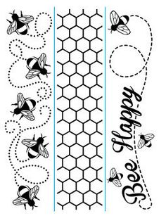 Darice Embossing Folder Bee Borders
