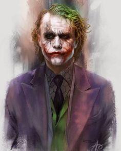 Artwork by Mark Brooks Fotos Do Joker, Joker Pics, Heath Legder, Heath Ledger Joker, Joker Poster, Der Joker, Joker Art, Joker Frases, Joker Quotes