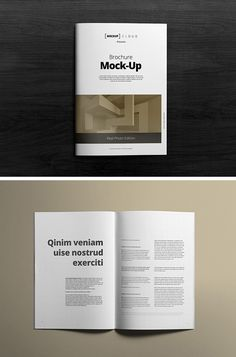 Free A4 Brochure Mockup, #A4, #Brochure, #Display, #Free, #Graphic #Design…