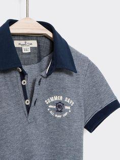 POLO MIL RAYAS Polo Shirt Style, Polo Shirt Design, Polo Design, Polo Shirt Brands, Polo Rugby Shirt, Mens Polo T Shirts, Mens Tees, Motif Polo, France Mode