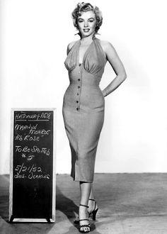 Marilyn Monroe costume test.