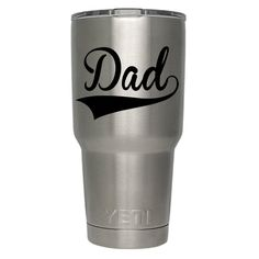 3 Dad Yeti Decal Dad Decal Yeti Tumbler Decal by XcaliburInkGraphX