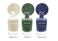 Zoya PixieDust Fall 2013 Nail Polishes - The upcoming season will be bringing six more covetable Zoya PixieDust nail polish hues. Check them out and pick your favorite!