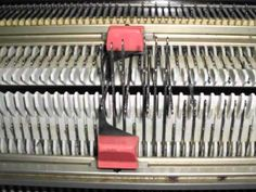 the racking cast on for knitting machines.wmv - YouTube