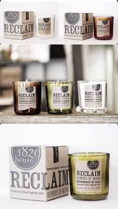 Vintage-inspired candle #labels | Reclaim Elements by 1820 House