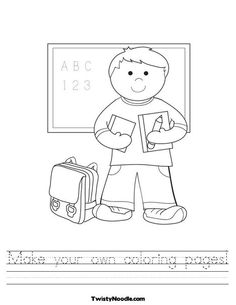 Amazing is all I can say! Pick a coloring page and create what you want the page to say. You can even have lines for the students to practice writing and it can even be written in other languages!