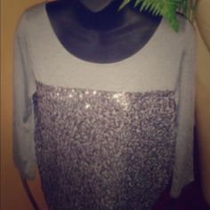 Sparkly JCrew Top! Dazzling top that absolutely catches anyone's eye whether you throw it with a pair of jeans , maxi or even leggings. Versatile. Very soft. J. Crew Tops