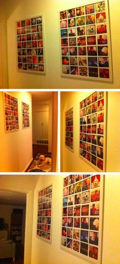 I love this idea to display a year of instagram photos. So cool. Do ...