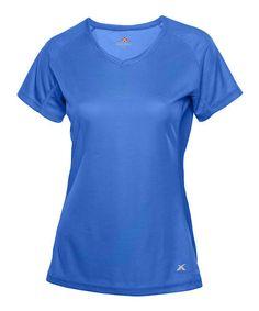 Blue X Cooling V-Neck Top - Women #zulily #zulilyfinds