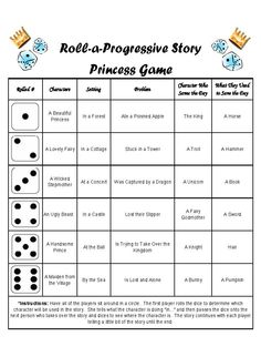Princess Tell-a-Story Game - A fun progressive story telling game for parties.  You could also do this as a homeschool activity. #princessparty #partygames #storytelling #homeschool #itsaprincessthing