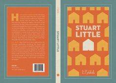 Same style front and back cover with contrast colour spine - simple design