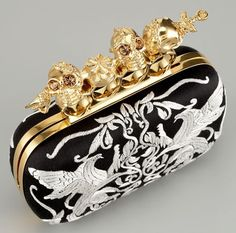 Alexander McQueen Embroidered Knuckle-Duster Clutch
