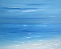 Beach painting seascape painting ocean painting by FradetFineArt, $135.00
