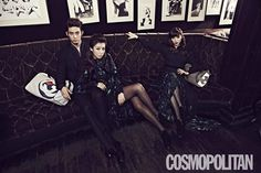 2PM's Taecyeon couples up with the Wonder Girls' Sunye and Yubin for 'Cosmopolitan'