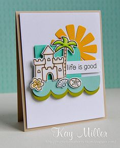 Created with Life Is Good stamp set and matching dies.  myjoyfulmoments-kaym.blogspot.com