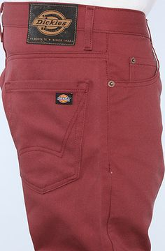 Dickies The Skinny 5 Pocket Pants in Oxblood   Karmaloop.com - Global  Concrete Culture 2b9c45be85