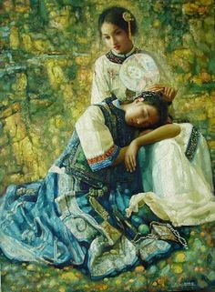 Women in Painting by Chinese Artist Di Lifeng