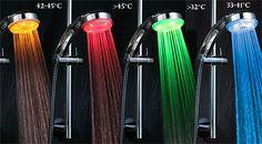 LED sprchová hlavice měnící barvu - Slevolam