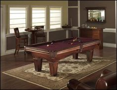 Pool table room decoration idea - Simple, yet beautiful.